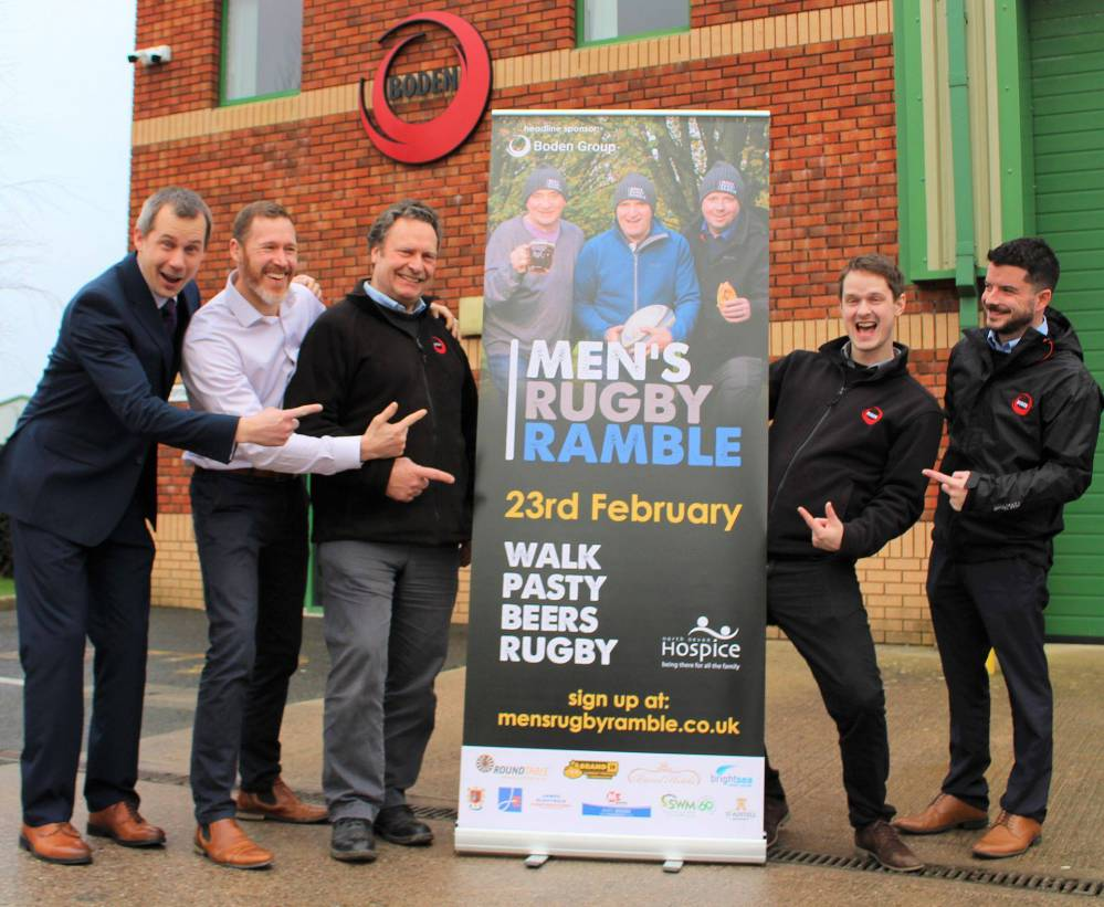 Boden Group sponsored North Devon Hospice Men's Rugby Ramble